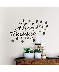 Think Happy Wall Quote