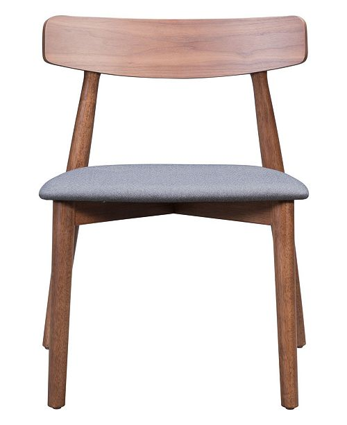Zuo Newman Dining Chair Walnut & Dark Gray (Set of 2)