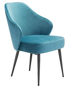 Savon Dining Chair Green Velvet