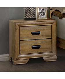 Wooden Night stand With 2 Drawers, Natural Wood Brown