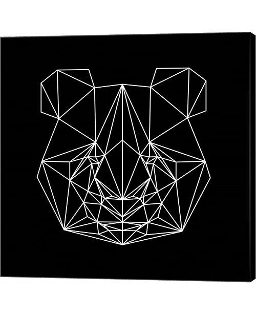 Metaverse Panda on Black by Lisa Kroll