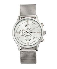 Breed Quartz Espinosa Chronograph Silver Alloy Watches 42mm