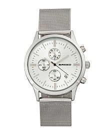 Breed Quartz Espinosa Chronograph Silver Alloy Watches 42mm