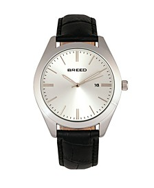 Quartz Louis Silver And Black And Silver Genuine Leather Watches 42mm
