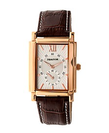 Automatic Frederick Rose Gold & Silver Leather Watches 32mm