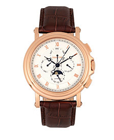 Heritor Automatic Kingsley Rose Gold & White Leather Watches 46mm