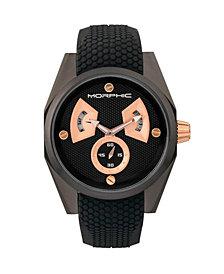 Morphic M34 Series Men's Watch w/ Day/Date - Black/Rose Gold