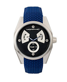 Morphic M34 Series Men's Watch w/ Day/Date - Silver/Blue