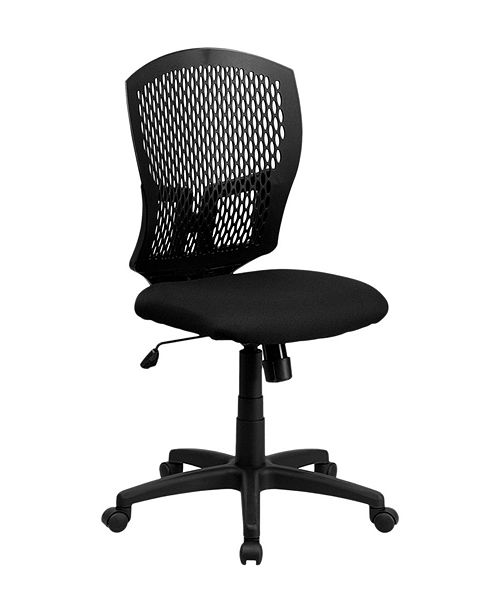 Clickhere2shop Mid-Back Designer Back Drafting Stool with Padded Fabric Seat