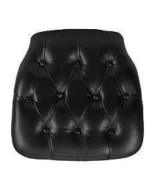 Offex Hard Tufted Vinyl Chiavari Chair Cushion