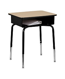 Offex Student Desk with Open Front Metal Book Box