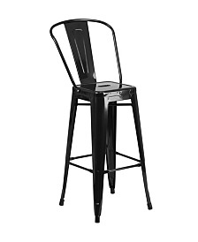 Offex 30'' High Metal Indoor-Outdoor Barstool