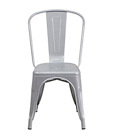 Metal Indoor-Outdoor Stackable Bistro Style Chair