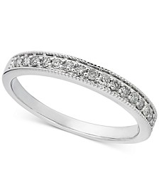 Diamond Bead Edge Band (1/5 ct. t.w.) in 14k White Gold