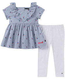 Tommy Hilfiger Toddler Girls 2-Pc. Ruffle Cotton Tunic & Leggings Set