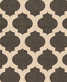 "Surya Alfresco ALF-9584 Black 18"" Square Swatch"