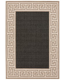 Alfresco ALF-9626 Black 6' x 9' Area Rug, Indoor/Outdoor