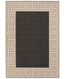 "Surya Alfresco ALF-9626 Black 8'9"" x 12'9"" Area Rug, Indoor/Outdoor"