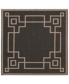 "Alfresco ALF-9630 Black 8'9"" Square Area Rug, Indoor/Outdoor"