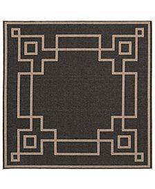 "Surya Alfresco ALF-9630 Black 8'9"" Square Area Rug"