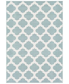 Alfresco ALF-9664 Aqua 6' x 9' Area Rug, Indoor/Outdoor