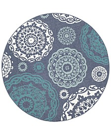 "Alfresco ALF-9666 5'3"" Round Area Rug, Indoor/Outdoor"