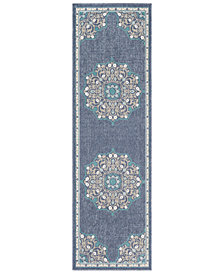 "Surya Alfresco ALF-9678 Charcoal 2'3"" x 7'9"" Runner Area Rug"