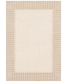 "Alfresco ALF-9685 Camel 7'6"" x 10'9"" Area Rug, Indoor/Outdoor"