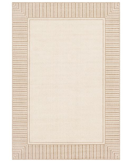 "Surya Alfresco ALF-9685 Camel 7'6"" x 10'9"" Area Rug, Indoor/Outdoor"