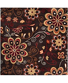"Surya Athena ATH-5037 Dark Brown 9'9"" Square Area Rug"