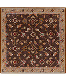 Surya Caesar CAE-1083 Dark Brown 4' Square Area Rug