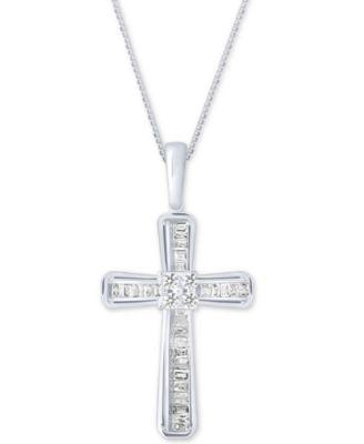 Mens Fine Jewelry 10k White Gold DAD Diamond Pendant Necklace