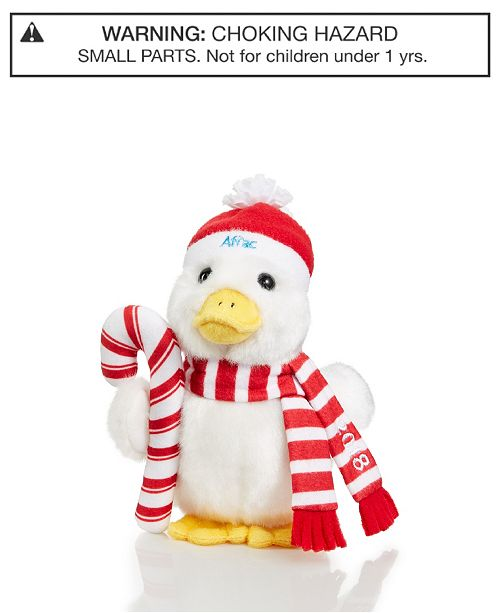 """Aflac 6"""" 2018 Holiday Plush Duck, Created for Macy's"""