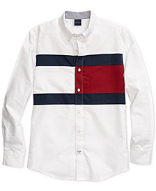 Tommy Hilfiger Adaptive Men's New England Tommy Flag Shirt with Magnetic Buttons