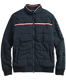 Tommy Hilfiger Adaptive Men's Monroe Bomber Jacket with Magnetic Zipper