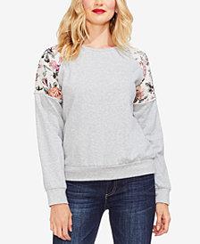 Vince Camuto Drop-Shoulder Floral Sweater