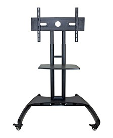 Clickhere2shop Adjustable Height Rolling Flat Panel Cart with Accessory Shelf