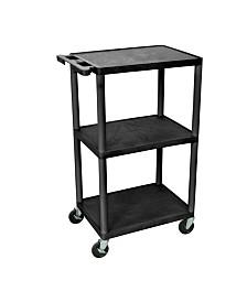 """Clickhere2shop 42"""" H 3 Shelves Multipurpose Utility AV Carts"""