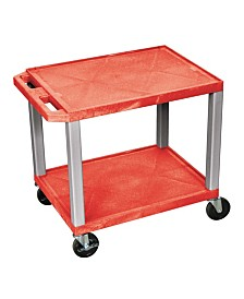 Offex Multipurpose Utility Cart No Electric Red and Nickel