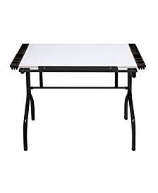 Folding Craft Station Glass - Black/White