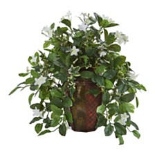 Nearly Natural Stephanotis and Ivy Artificial Plant in Decorative Planter