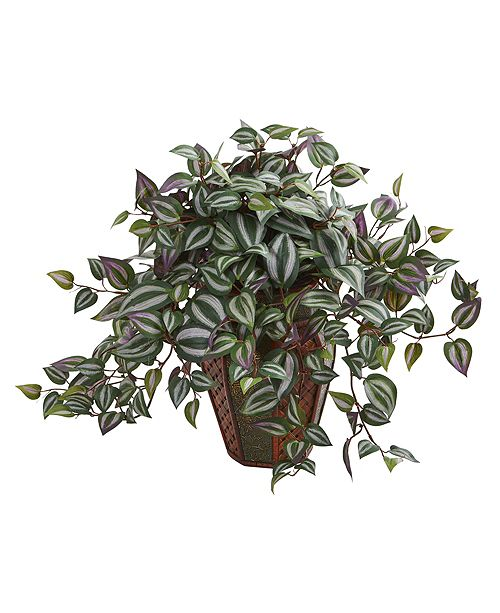 Nearly Natural Wandering Jew Artificial Plant in Decorative Planter