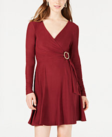 Planet Gold Juniors' Surplice-Neck Dress
