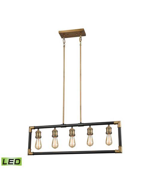ELK Lighting Lisbon 5 Billiard/Island Classic Brass/Oil Rubbed Bronze