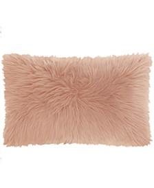 Mina Victory Fur Remen Poly Faux Fur Decorative Pillow