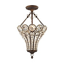 Christina 3 Light Chandelier in Mocha