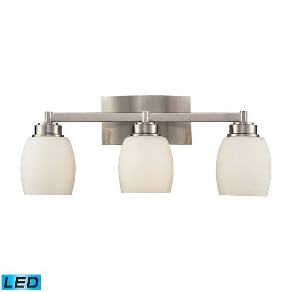 ELK Lighting Northport 3-Light Vanity in Satin Nickel - LED, 800 Lumens (2400 Lumens Total) with Full Scale Dimming Range