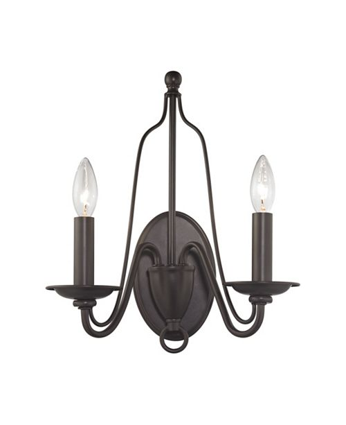 ELK Lighting Monroe 2 Light Wall Sconce in Oil Rubbed Bronze