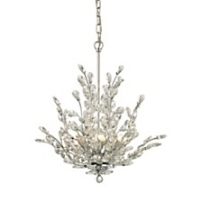 Crystique 6 Light Chandelier in Polished Chrome