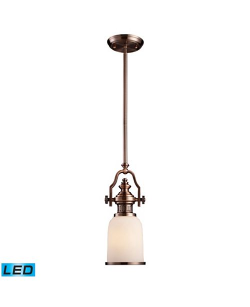 ELK Lighting Chadwick 1-Light Pendant in Antique Copper - LED Offering Up To 800 Lumens (60 Watt Equivalent) With